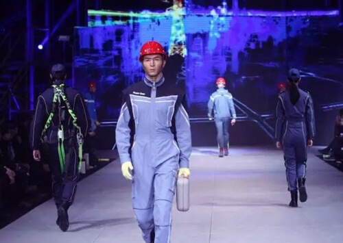 Protective clothes show, preventing crisis and protecting personal safety