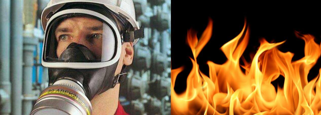 flammability of full face masks